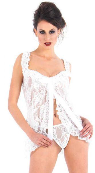Vixson Lace Babydoll - White